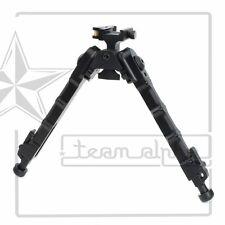 "6.25""-9.75"" Black Adjustable Bolt Action Sniper Rifle Aluminum Bipod w/QD Mount"