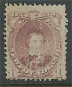 1871 Newfoundland Stamp #32A Mint Previously Hinged Average No Gum Edward VII