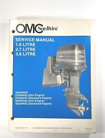 1988 1987 OMC Sea Drive 1.8 2.7 3.6 Litre Service Shop Repair Manual P/N 507624