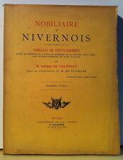 VILLENAUT : Nobiliaire de Nivernois - 1900 - Nièvre - Noblesse - Familles