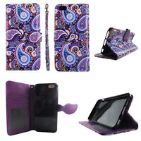 Flip Wallet Case Purplish Vintage  for iphone 6 6s Plus Cash id Slot Stand Cover