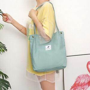 Women Canvas Tote Bags Large Capacity Handbag Casual Shoulder Bag Satchel Gisz