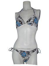 golden lady bikini donna traingolo triangolare bianco nero taglia 2 uk 34