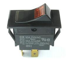 Carling Technologies Amber Illuminated Rocker Switch Spst 10amps 250vac 12hp