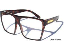 Large OVERSIZE Big WOMEN'S EYE GLASSES Clear Lens Tortoise Shell Retro Fashion