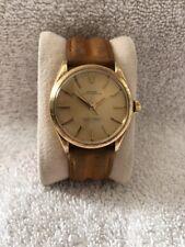 Rare Vintage Rolex 14k Gold 1002 Oyster No Date Florentine Finish Underline Dial
