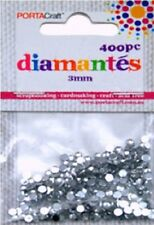 Diamantes 3mm 400 Pieces Clear
