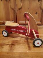 Vintage Radio Flyer Scooter Wood 4-Wheel Toddler Bike In Hard Solid Maple VTG