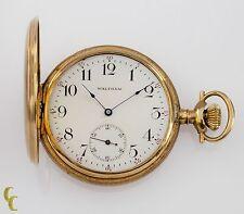 14k Yellow Gold Waltham Full Hunter Pocket Watch 15 Jewel Size 12 Gr 220 1901