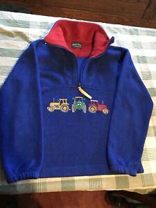 Boys Shire Classics Blue Tractor Jumper Fleece Size XL