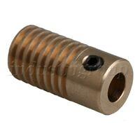0.5 Modulus Brass Worm Gear Shaft 5MM-ID Yellow