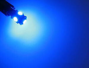 2x T10 w5w 501 194 Blue Light Canbus Led Bulb 5x 5050 Chip LED Brand New!