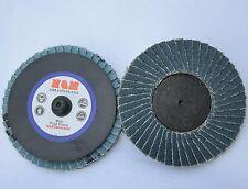 10 3 Inch Zirc Flap Disc 80 Grit Roloc Quick Change Type R Sanding Grinding