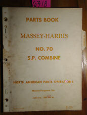 Massey Harris Ferguson 70 Self-Propelled SP Combine 1953- Parts List Manual 5/61