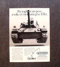 [GCG] I692- Advertising Pubblicità - 1984 - EFFER GRU , PER TOGLIRRSI UN PESO