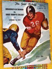 1948 Oct 17 Nevada Wolfpack V Saint Marys College Football Program W/Ticket