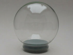 Replacement Glass for 120mm Snowglobe (Glass globe, rubber seal, fake snow)