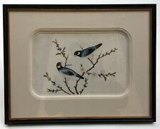 Peinture chinoise ancienne, Gouache sur papier de riz, Oiseaux, XIXe, 4/4