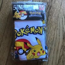 Brand New in package 5 Pairs Boys' Pokemon Boxer Briefs, size 6