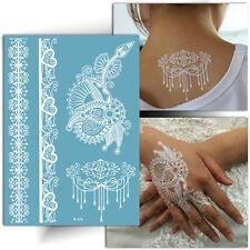 ►TATOUAGE TEMPORAIRE DENTELLE (Tattoo éphémère mariage / Henné blanc)◄