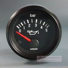 VDO OELDRUCK INSTRUMENT 5 bar GAUGE 24V  52mm Cockpit international classic sw.