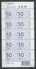 Nederland NVPH Va2135b Nikkels 10x 0,10 euro TPG logo I Fosfor Postfris