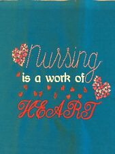 Free personalizing Tote NEW machine embroidery Nursing is a work of HEART! Sweet