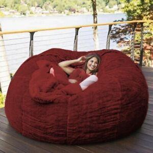 7Ft  Giant Bg Soft Fur Bean Bag Luxury Living Room Portable Sofa Bed Chair Cover