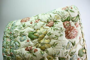 Beige Floral Leaf Design Quilted Twin Size Duvet Fitted Comforter With Side Drop
