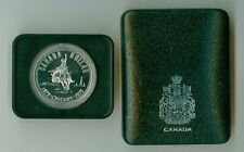 1975  CANADA CASED SILVER DOLLAR CALGARY STAMPEDE WITH CAPSULE AND CASE OF ISSUE