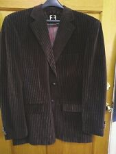 Firado Rome Hand Tailored Velveteen Espresso and Gold Stripe Blazer/Jacket 50R