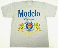 MODELO Especial T-shirt Mexico Cerveza Mexican Beer Streetwear Mens Tee Gray New
