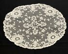 Vintage+embroidered+Tambour+net+lace+doily+10+x+12%22