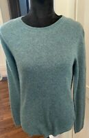 Ellen Tracy Womens 100% Cashmere Sweater Pullover Size S Green NWT -STUNNING-