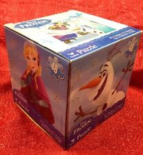 Disney FROZEN PUZZLE 48 PIECES ANNA & ELSA Comes In Cute Square Cube Box