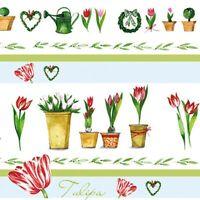 *ACUFACTUM*Geschenkpapier*50 x 70cm *KERSTIN HESS*Tulpen*Frühjahr*Spring