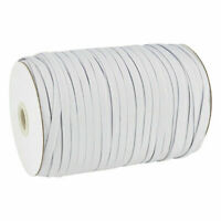 182 Meter Gummiband Gummikordel Gummischnur Gummilitze 6 mm elastisch nähen weiß