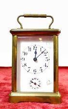 CARRIAGE CLOCK, ALARM CLOCK. BRONZE CRYSTAL. WORKING. FRANCE (?). XIX-XX