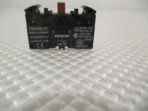 ONE USED LOT OF 3 SIEMENS CONTACT BLOCKS 3SB3400-0C.