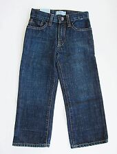 Baby Gap boys jeans original fit adjustable waist contrast stitching size 4 NWT