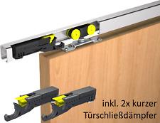 Schiebetürbeschlag Mantion SAF80A Sanfteinzug, inkl. 2 kurzen Dämpfern 2mtr 80kg