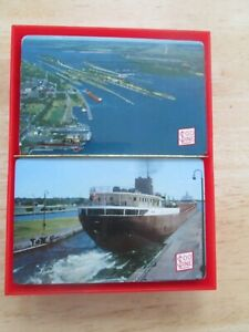 MINT Double Deck of SOO Line Railway Ship Travel Playing Cards with tax stamp