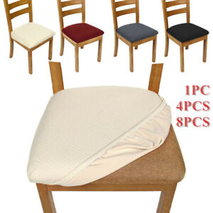 UK Elastic Dining Chair Protector Seat Covers Home Non-slip Seat Slipcovers