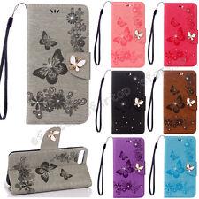 3D Bling Flip PU Leder Tasche Schutz Hülle Bumper Case Cover Etui Wallet Mzuan