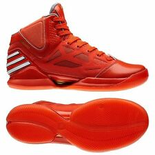 Adidas Mens Adizero Rose 2.5 Basketball Trainers Sports Sneakers Red Shoes UK 14