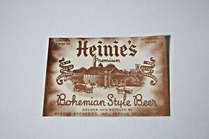 Heinie's Premium Bohemian Style Beer - Fergus Falls MiINNESOTA IRTP