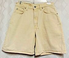 Levi's Juniors 100% Cotton Pale Yellow Denim Jean Shorts Size 9 Yellow Tab W 29