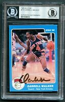 Darrell Walker #172 signed autograph auto 1985-86 Star Basketball Card BAS Slab