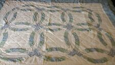Vintage Sears Wedding Ring Quilted Comforter Bedspread and Pillowcase 64x82