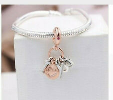 ROSE GOLD PLATED I LOVE YOU DANGLE CHARM FOR BRACELET OR NECKLACE